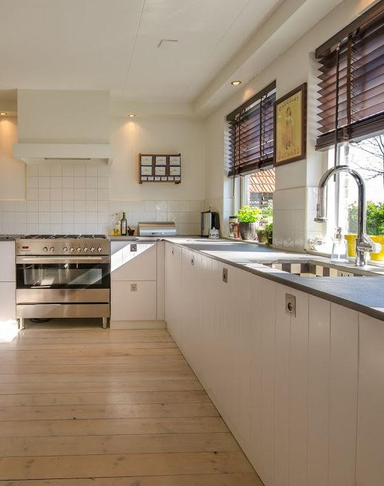 Brightly-Lit Clutter-Free Kitchen